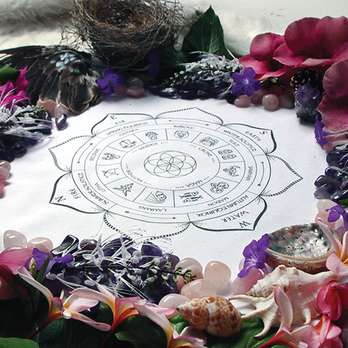 Altar Cloth Southern Hemisphere with Astrology